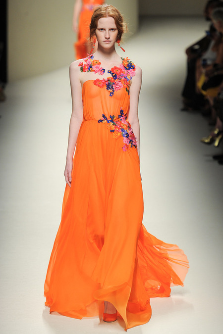 Alberta Ferretti, Spring 2014, Look 41 Photo: Yannis Vlamos/Indigitalimages.com