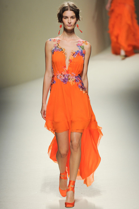 Alberta Ferretti, Spring 2014, Look 42 Photo: Yannis Vlamos/Indigitalimages.com