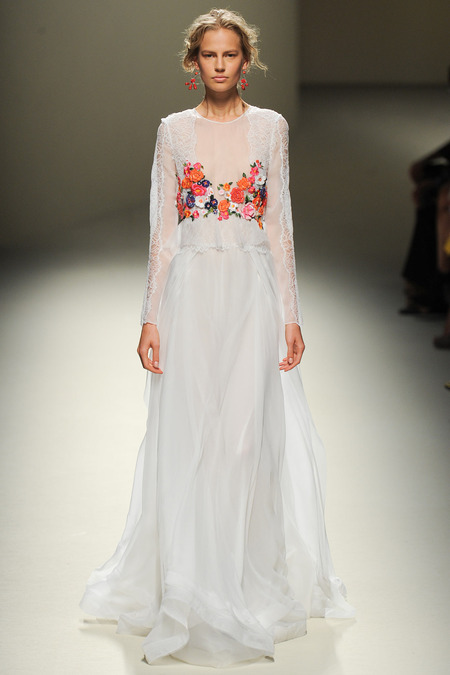 Alberta Ferretti, Spring 2014, Look 51 Photo: Yannis Vlamos/Indigitalimages.com