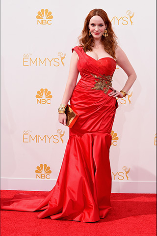 Christina Hendricks  Dress: Marchesa Photo: Getty Images found on www.style.com