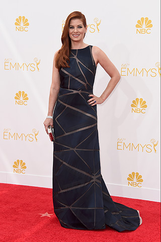 Debra Messing in Angel Sanchez  Photo: Getty Images found on www.style.com