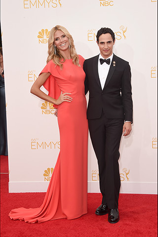 Heidi Klum with Zac Posen Dress: Zac Posen Photo: Getty Images found on www.style.com