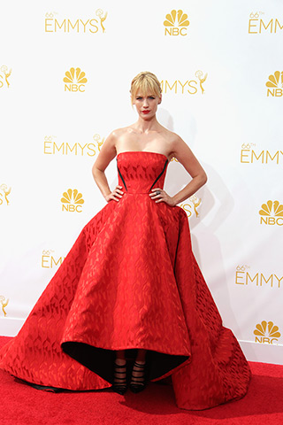January Jones  Dress: Prabal Gurung Shoes: Christian Louboutin Photo: Getty Images found on www.style.com
