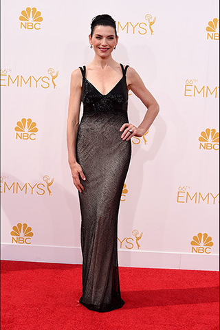 Julianna Margulies in Narciso Rodriguez Photo: Getty Images found on www.style.com