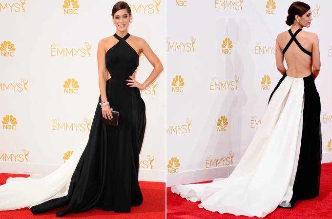 Lizzy Caplan in Donna Karan Atelier Photo: FilmMagic: WireImage found on nypost.com