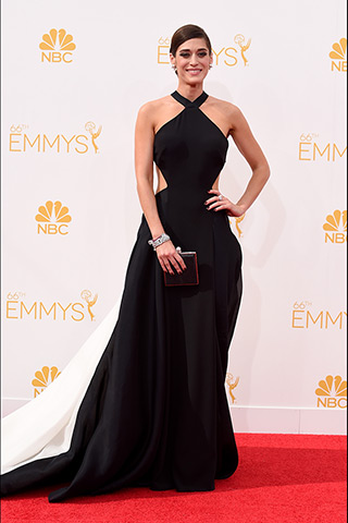 Lizzy Caplan in Donna Karan Atelier  Photo: Getty Images found on www.style.com