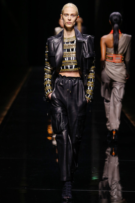 Balmain, Fall/Winter 2014, Look 10 Model: Aymeline Valade Photo: Monica Feudi/FeudiGuaineri.com found on www.style.com