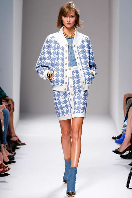 Balmain, Spring/Summer 2014, Look 10 Photo: Monica Feudi/FeudiGuaineri.com found on www.style.com