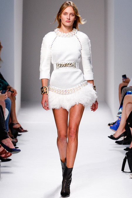 Balmain, Spring/Summer 2014, Look 13 Photo: Monica Feudi/FeudiGuaineri.com found on www.style.com