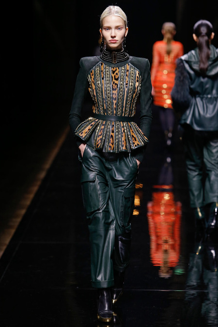 Balmain, Fall/Winter 2014, Look 14 Model: Sasha Luss Photo: Monica Feudi/FeudiGuaineri.com found on www.style.com