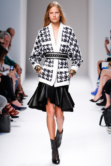 Balmain, Spring/Summer 2014, Look 1 Photo: Monica Feudi/FeudiGuaineri.com found on www.style.com