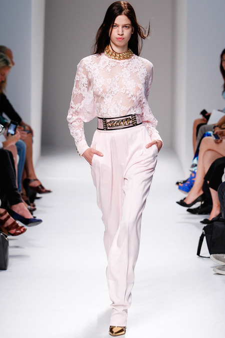 Balmain, Spring/Summer 2014, Look 16 Photo: Monica Feudi/FeudiGuaineri.com found on www.style.com