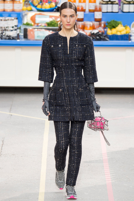Chanel, Fall/Winter 2014 Collection, Look 17 Photo: Yannis Vlamos/Indigitalimages.com found on www.style.com