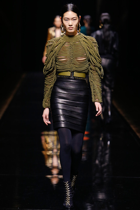 Balmain, Fall/Winter 2014, Look 18 Photo: Monica Feudi/FeudiGuaineri.com found on www.style.com