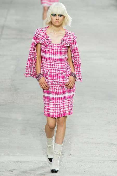 Chanel, Spring/Summer 2014 Collection, Look 18 Photo: Yannis Vlamos/Indigitalimage.com found on www.style.com