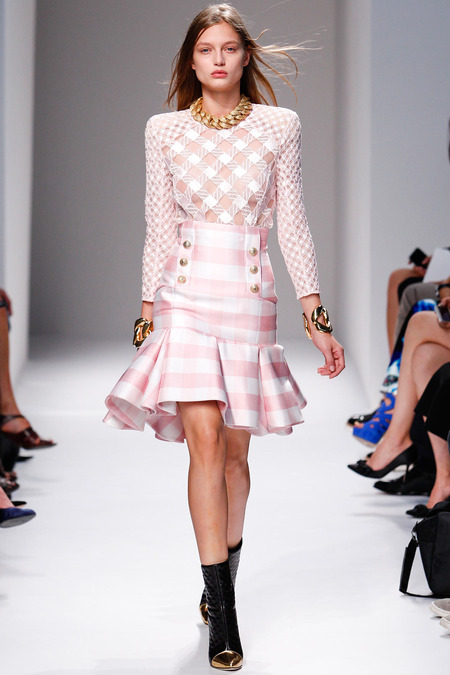 Balmain, Spring/Summer 2014, Look 20 Photo: Monica Feudi/FeudiGuaineri.com found on www.style.com