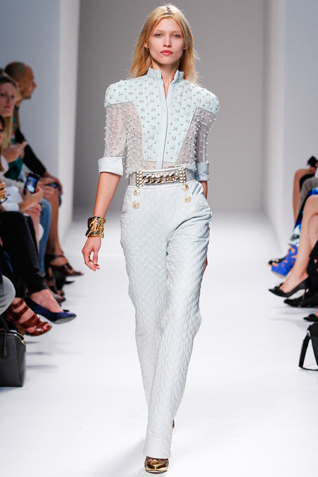 Balmain, Spring/Summer 2014, Look 21 Photo: Monica Feudi/FeudiGuaineri.com found on www.style.com