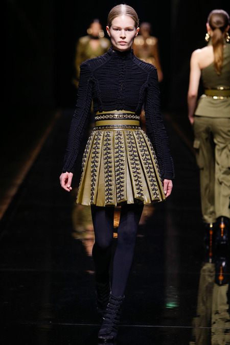 Balmain, Fall/Winter 2014, Look 21 Photo: Monica Feudi/FeudiGuaineri.com found on www.style.com