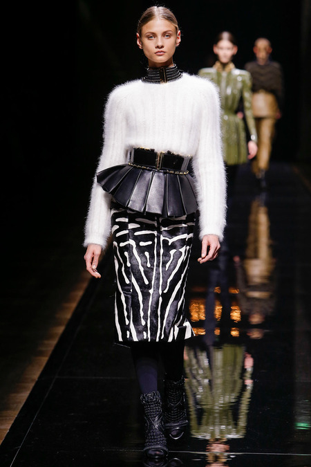 Balmain, Fall/Winter 2014, Look 25 Photo: Monica Feudi/FeudiGuaineri.com found on www.style.com