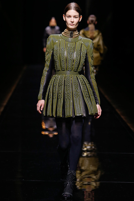 Balmain, Fall/Winter 2014, Look 26 Photo: Monica Feudi/FeudiGuaineri.com found on www.style.com