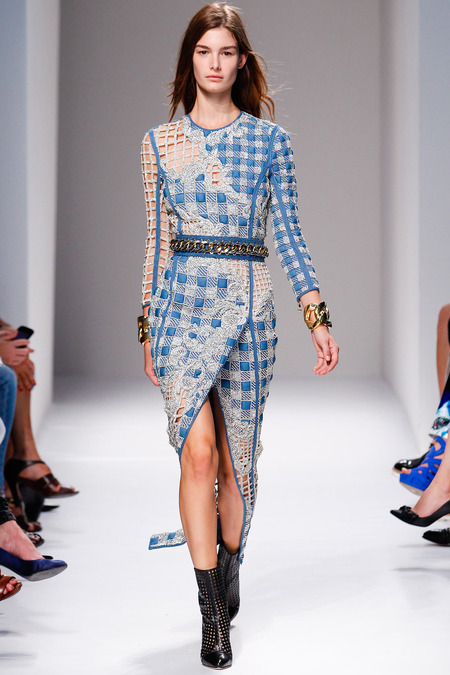 Balmain, Spring/Summer 2014, Look 27 Photo: Monica Feudi/FeudiGuaineri.com found on www.style.com
