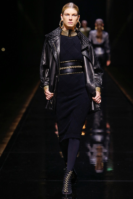 Balmain, Fall/Winter 2014, Look 28 Model: Angela Lindvall Photo: Monica Feudi/FeudiGuaineri.com found on www.style.com