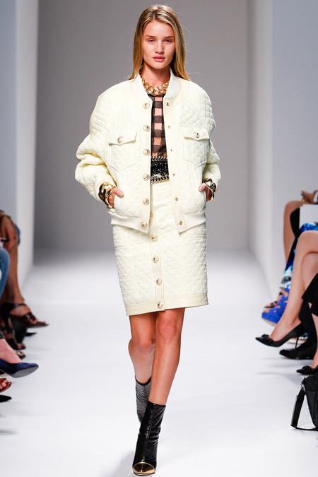 Balmain, Spring/Summer 2014, Look 3 Photo: Monica Feudi/FeudiGuaineri.com found on www.style.com