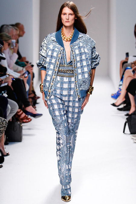 Balmain, Spring/Summer 2014, Look 30 Photo: Monica Feudi/FeudiGuaineri.com found on www.style.com