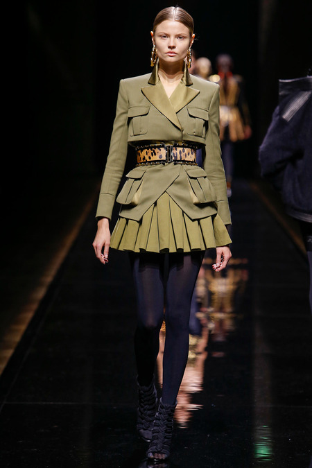 Balmain, Fall/Winter 2014, Look 31 Model: Magdalena  Photo: Monica Feudi/FeudiGuaineri.com found on www.style.com