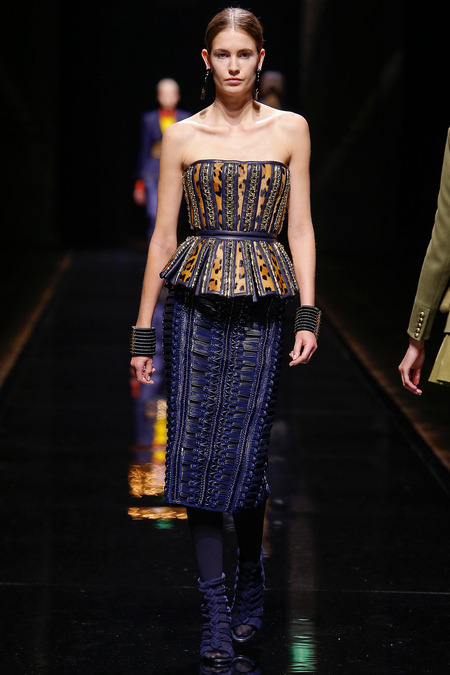 Balmain, Fall/Winter 2014, Look 32 Model: Nadja Bender Photo: Monica Feudi/FeudiGuaineri.com found on www.style.com