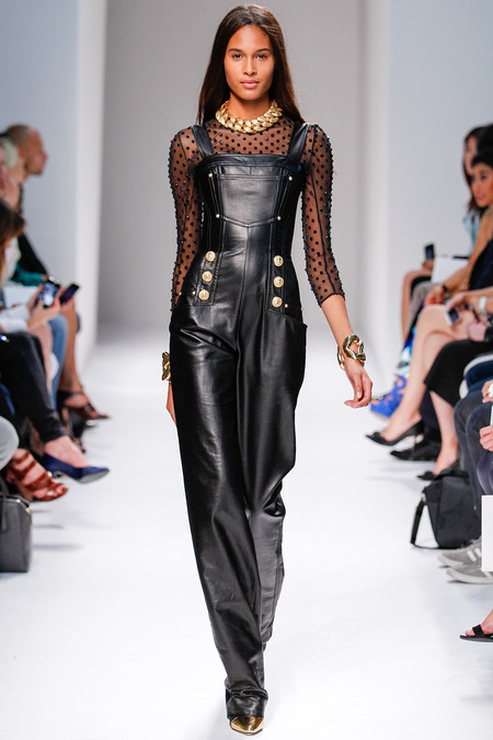 Balmain, Spring/Summer 2014, Look 32 Photo: Monica Feudi/FeudiGuaineri.com found on www.style.com