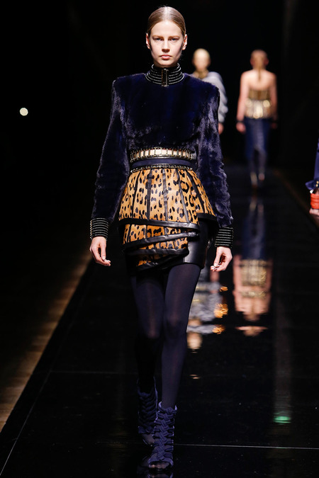 Balmain, Fall/Winter 2014, Look 34 Photo: Monica Feudi/FeudiGuaineri.com found on www.style.com