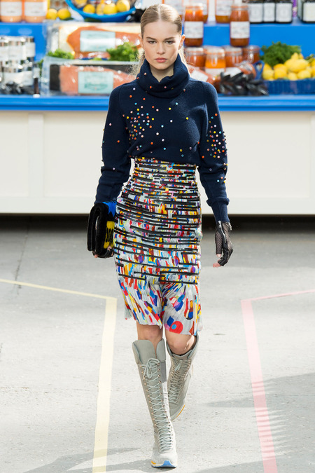 Chanel, Fall/Winter 2014 Collection, Look 34 Photo: Yannis Vlamos/Indigitalimages.com found on www.style.com