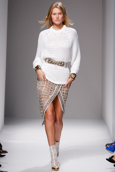 Balmain, Spring/Summer 2014, Look 35 Photo: Monica Feudi/FeudiGuaineri.com found on www.style.com