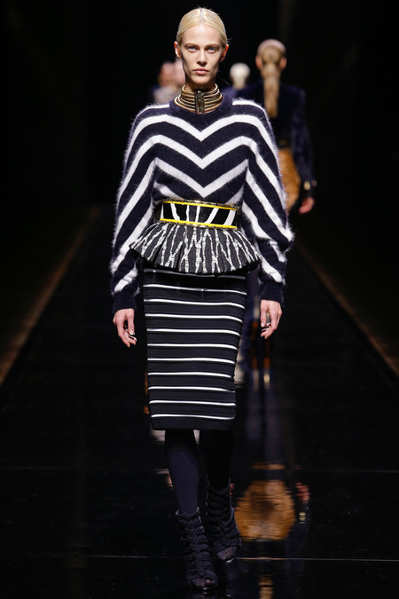 Balmain, Fall/Winter 2014, Look 35 Photo: Monica Feudi/FeudiGuaineri.com found on www.style.com