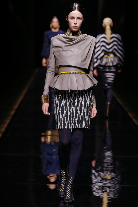 Balmain, Fall/Winter 2014, Look 36 Model: Edie Campbell Photo: Monica Feudi/FeudiGuaineri.com found on www.style.com