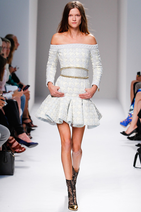 Balmain, Spring/Summer 2014, Look 36 Photo: Monica Feudi/FeudiGuaineri.com found on www.style.com