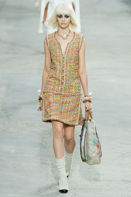 Chanel, Spring/Summer 2014 Collection, Look 3 Photo: Yannis Vlamos/Indigitalimage.com found on www.style.com