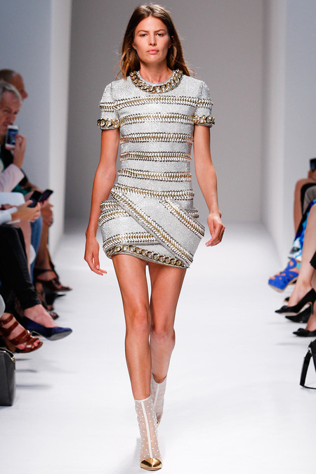 Balmain, Spring/Summer 2014, Look 37 Photo: Monica Feudi/FeudiGuaineri.com found on www.style.com