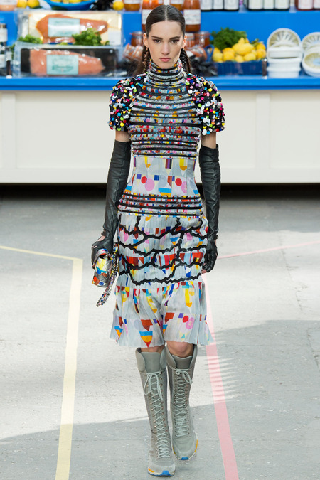 Chanel, Fall/Winter 2014 Collection, Look 38 Photo: Yannis Vlamos/Indigitalimages.com found on www.style.com