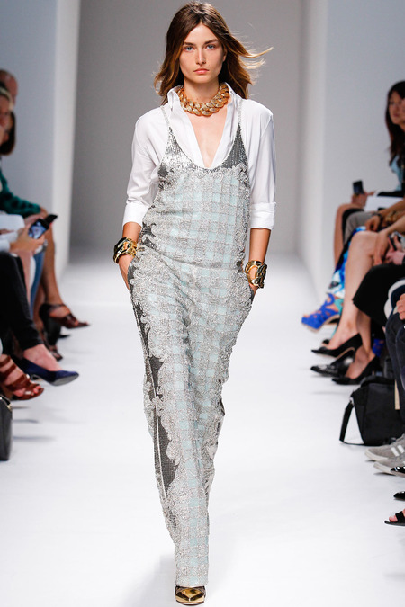 Balmain, Spring/Summer 2014, Look 40 Photo: Monica Feudi/FeudiGuaineri.com found on www.style.com