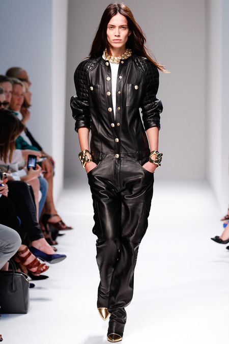 Balmain, Spring/Summer 2014, Look 4 Photo: Monica Feudi/FeudiGuaineri.com found on www.style.com