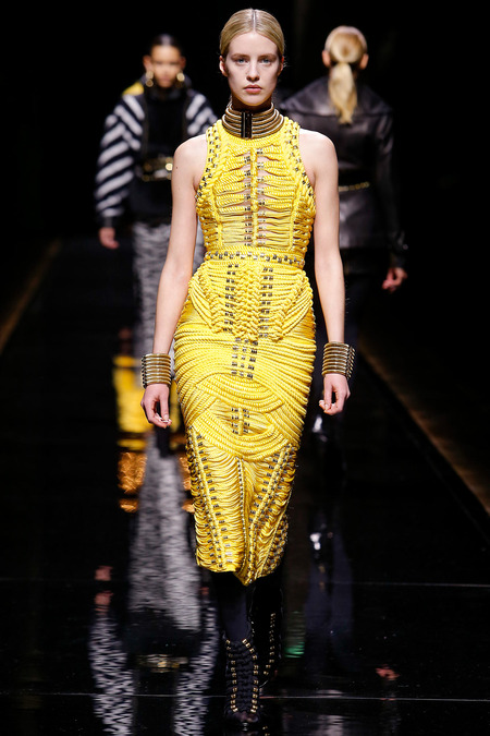 Balmain, Fall/Winter 2014, Look 41 Photo: Monica Feudi/FeudiGuaineri.com found on www.style.com