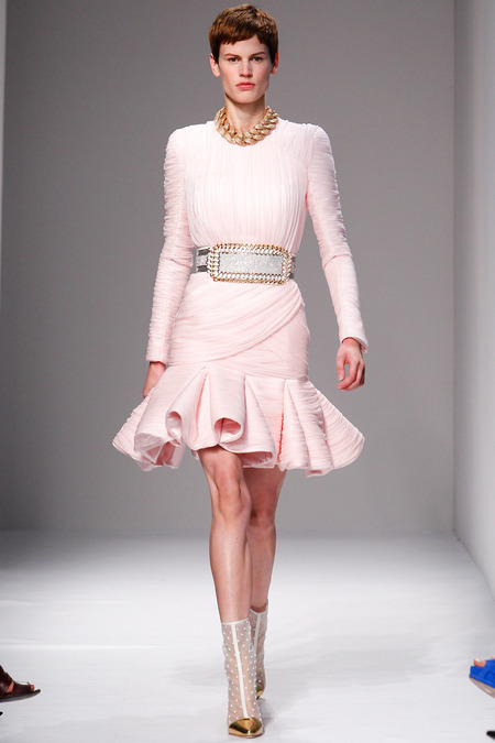 Balmain, Spring/Summer 2014, Look 42 Photo: Monica Feudi/FeudiGuaineri.com found on www.style.com