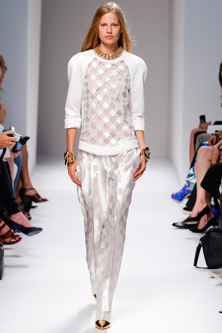 Balmain, Spring/Summer 2014, Look 43 Photo: Monica Feudi/FeudiGuaineri.com found on www.style.com