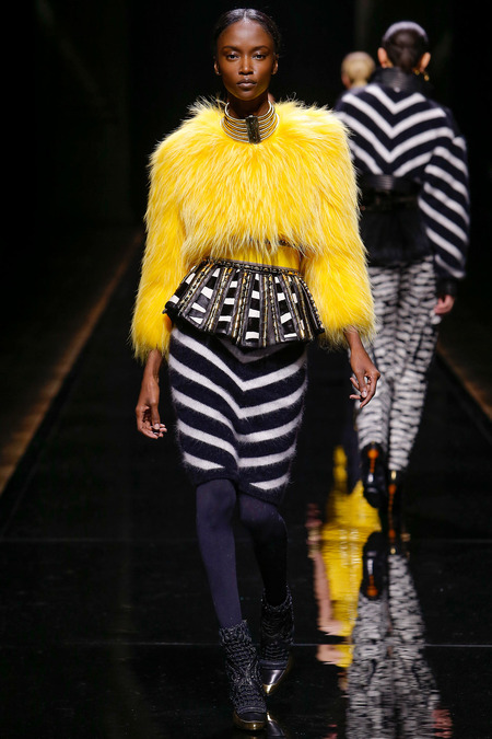 Balmain, Fall/Winter 2014, Look 43 Photo: Monica Feudi/FeudiGuaineri.com found on www.style.com