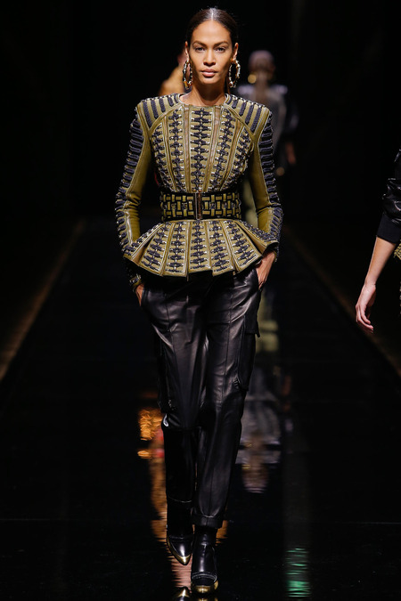 Balmain, Fall/Winter 2014, Look 5 Model: Joan Smalls Photo: Monica Feudi/FeudiGuaineri.com found on www.style.com