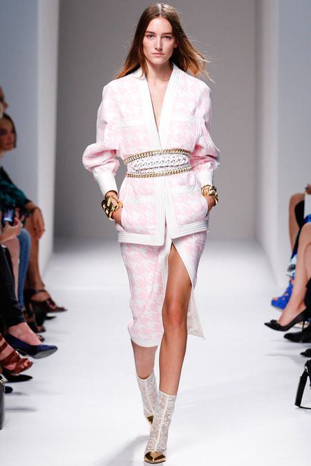 Balmain, Spring/Summer 2014, Look 5 Photo: Monica Feudi/FeudiGuaineri.com found on www.style.com
