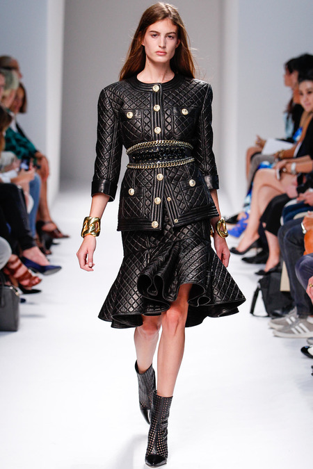 Balmain, Spring/Summer 2014, Look 6 Photo: Monica Feudi/FeudiGuaineri.com found on www.style.com