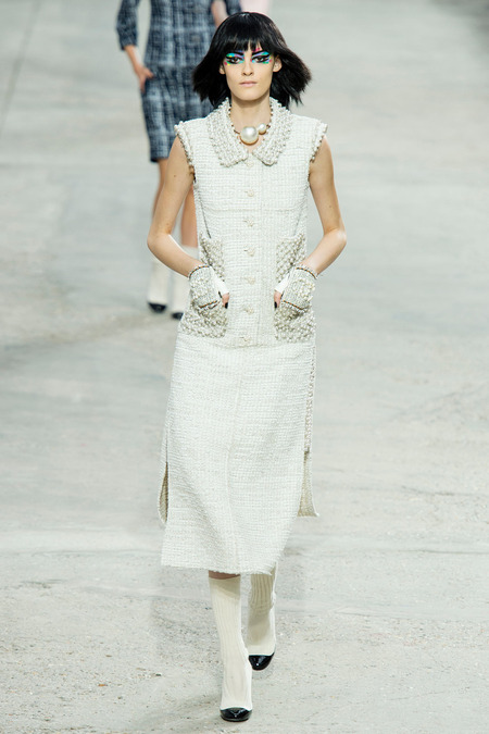 Chanel, Spring/Summer 2014 Collection, Look 6 Photo: Yannis Vlamos/Indigitalimage.com found on www.style.com